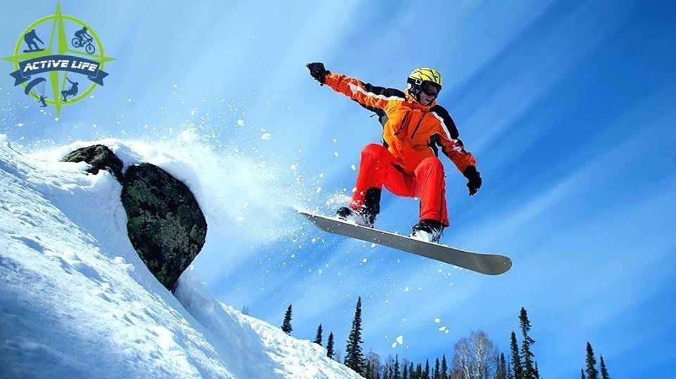 Что делать на выходных зимой в городе? Учиться сноубордингу!