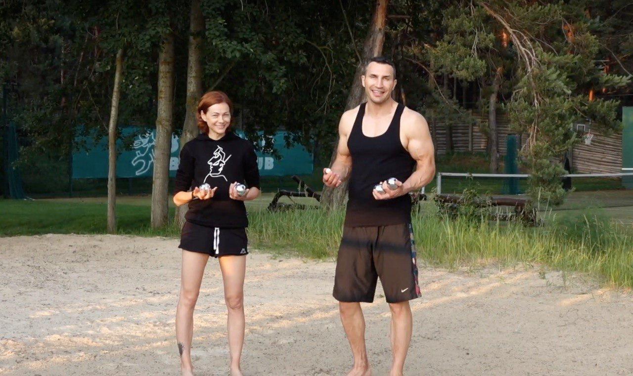 Владимир Кличко сыграл в петанк: видео