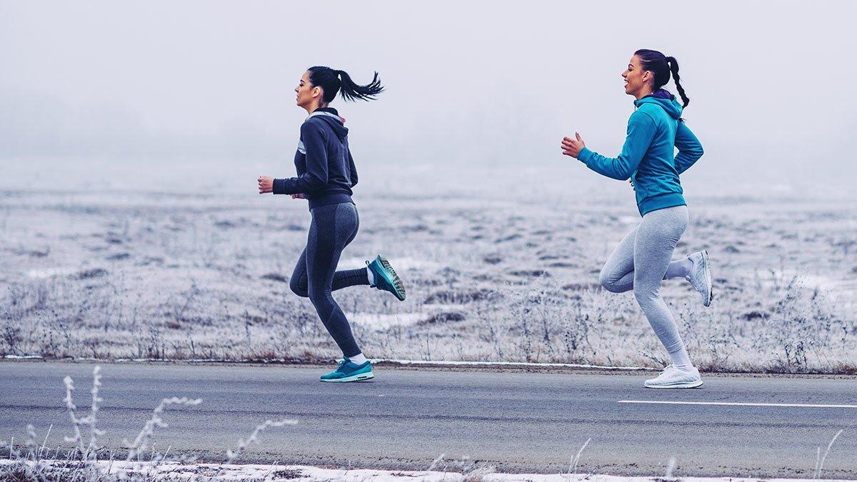 Бег для похудения по утрам зимой